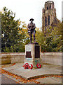 SJ8791 : Heaton Moor War Memorial and St Paul's Church by David Dixon