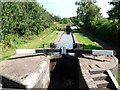 SO9768 : Narrowboat entering Lock 45 by Christine Johnstone