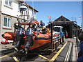 SX9372 : The lifeboat waits in Lifeboat Lane, Teignmouth by Robin Stott