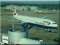 TQ2741 : British Airways plane at Gatwick North terminal by Richard Humphrey