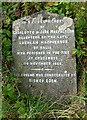 NN6892 : A gravestone at Crubenbeg by Walter Baxter
