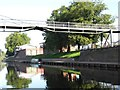 SO8455 : Narrowboat moored upstream of Sabrina Bridge by Christine Johnstone