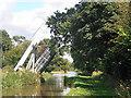 SJ5847 : Lift bridge near Wrenbury by Row17