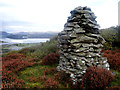 SH6134 : Stone cairn on Clogwyn Gwyn by Arthur C Harris