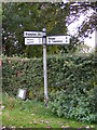 TM4181 : Roadsign on Wangford Road by Adrian Cable