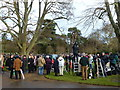 TF6928 : Still filming at Sandringham - Christmas Day 2011 by Richard Humphrey