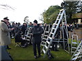 TF6928 : The press pack at Sandringham - Christmas Day 2011 by Richard Humphrey