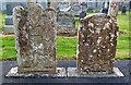 NO0242 : Adam and Eve gravestones in Little Dunkeld Parish Church by Walter Baxter