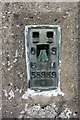 SY5092 : Flush bracket on Shipton Hill trig point by Roger Templeman