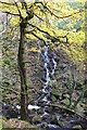 SK2579 : Waterfall in Padley Gorge by Neil Theasby