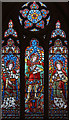 TQ2981 : All Saints, Margaret Street - Stained glass window by John Salmon