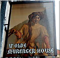 ST3188 : Pub sign, Ye Olde Murenger House, Newport by John Grayson