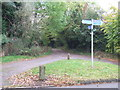SP9436 : Footpath sign, Aspley Guise by Malc McDonald