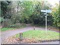 SP9436 : Footpath sign, Aspley Guise by Malc McDonald