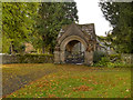 NY8773 : St Mungo's Church Lychgate by David Dixon