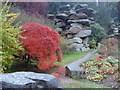 SK2669 : Chatsworth gardens in autumn by Andrew Hill