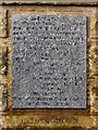 NY9169 : War Memorial Plaque, Wall by David Dixon