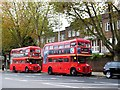 TQ2479 : Routemasters on bus stand, High Street Kensington by David Howard