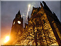 SJ8398 : Olympic Celebrations, Manchester Town Hall by David Dixon