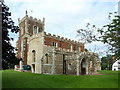 TL1864 : St Leonard's Church Southoe by Alexander P Kapp