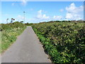 SW6946 : Country lane T-junction south of Porthtowan by Richard Law