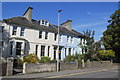 NJ9407 : Colourful terrace, King's Crescent, Aberdeen by Bill Harrison