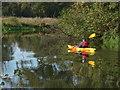 TQ0457 : Paddling on the Wey by Alan Hunt