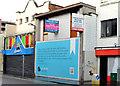 """J3374 : """"To let"""" shop, Belfast (26) by Albert Bridge"""