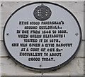 TR0161 : Plaque on Shelter Shop, Faversham by David Anstiss