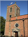 SJ6660 : St Bartholomew's church, Church Minshull by Dave Kelly