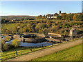 SK0297 : Tintwistle Waterworks from Bottoms Dam by David Dixon
