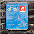SJ8894 : National Cycle Network Sign by David Dixon