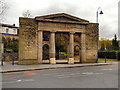 SJ9698 : Stalybridge Town Hall Portico by David Dixon