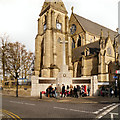 SD8010 : Bury Parish Church and War Memorial by David Dixon