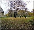 SJ9195 : Christ Church burial ground by Gerald England