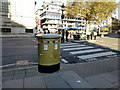 TQ2979 : Gold Pillar Box Tothill Street London by PAUL FARMER