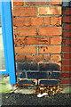 SP0890 : Benchmark on wall pier of Deykin Avenue School, Wyrley Road by Roger Templeman