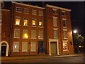 SO5174 : Townhouses in Castle Square, Ludlow on a winter evening by Jeremy Bolwell