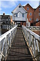 SO8832 : Footbridge over Mill Weir by Philip Halling