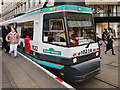 SJ8498 : Metrolink Poppy Tram by David Dixon