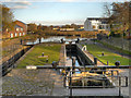 SJ9097 : Fairfield Lock, Ashton Canal by David Dixon
