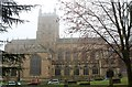 SO7745 : Great Malvern Priory church by Bob Embleton