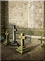 SD4675 : Memorial crosses, St John's Church, Silverdale by Karl and Ali