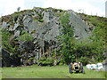 SN7580 : Disused quarry south-east of Ponterwyd, Ceredigion by Roger  Kidd