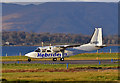 NM9035 : G-HEBI leaving Oban : Week 47