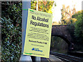 J4079 : &quot;No alcohol&quot; sign, Marino station, Holywood by Albert Bridge