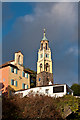 SH5837 : Portmeirion - Government House, Watch House and Bell Tower  by Ian Capper