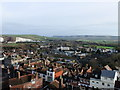 TQ4209 : View toward Mount Caburn from Lewes Castle by PAUL FARMER