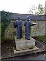 TQ4109 : Statue 'The Madrigal comes to England' in grounds of Southover Grange, Lewes by PAUL FARMER