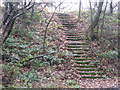 SK3398 : Steps up to the A61 by Dave Pickersgill